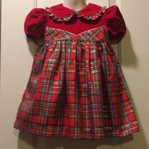 Girls 2T Vintage Christmas Dress